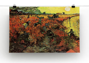 The Red Vineyard by Van Gogh Canvas Print & Poster - Canvas Art Rocks - 2