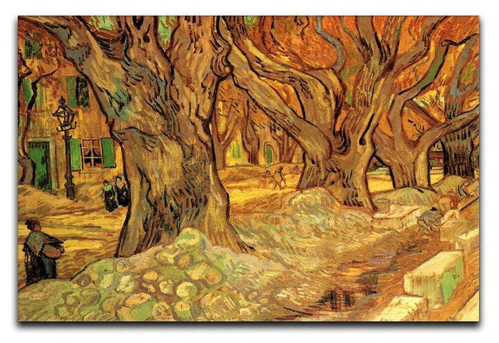 The Road Menders 2 by Van Gogh Canvas Print or Poster