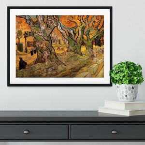 The Road Menders by Van Gogh Framed Print - Canvas Art Rocks - 1