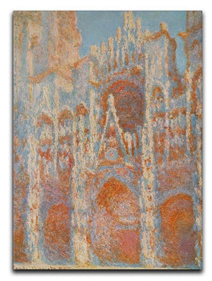 The Rouen Cathedral The facade at sunset by Monet Canvas Print & Poster  - Canvas Art Rocks - 1