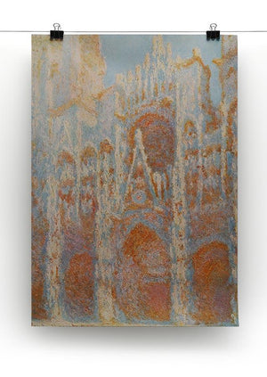 The Rouen Cathedral The facade at sunset by Monet Canvas Print & Poster - Canvas Art Rocks - 2