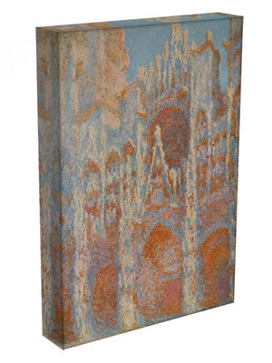 The Rouen Cathedral The facade at sunset by Monet Canvas Print & Poster - Canvas Art Rocks - 3