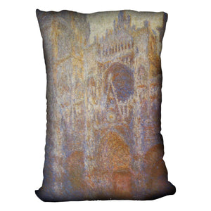 The Rouen Cathedral West facade by Monet Throw Pillow