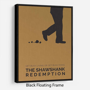 The Shawshank Redemption Minimal Movie Floating Frame Canvas - Canvas Art Rocks - 1