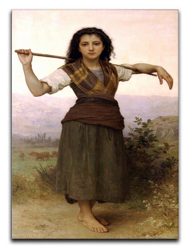 The Shepherdess By Bouguereau Canvas Print or Poster  - Canvas Art Rocks - 1