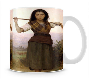 The Shepherdess By Bouguereau Mug - Canvas Art Rocks - 1
