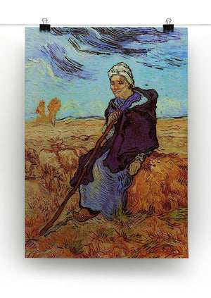 The Shepherdess after Millet by Van Gogh Canvas Print & Poster - Canvas Art Rocks - 2