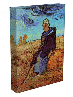 The Shepherdess after Millet by Van Gogh Canvas Print & Poster - Canvas Art Rocks - 3