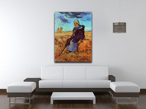 The Shepherdess after Millet by Van Gogh Canvas Print & Poster - Canvas Art Rocks - 4