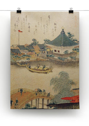 The Shrine Komagata Do in Komagata by Hokusai Canvas Print or Poster - Canvas Art Rocks - 2