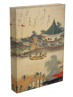 The Shrine Komagata Do in Komagata by Hokusai Canvas Print or Poster - Canvas Art Rocks - 3