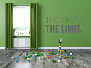 The Skys The Limit Wall Decal - Canvas Art Rocks - 1