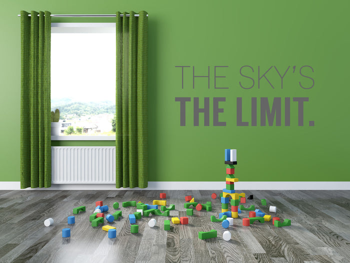 The Skys The Limit Wall Sticker
