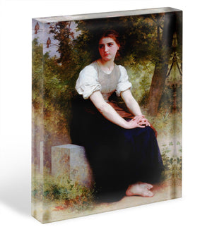 The Song of the Nightingale By Bouguereau Acrylic Block - Canvas Art Rocks - 1