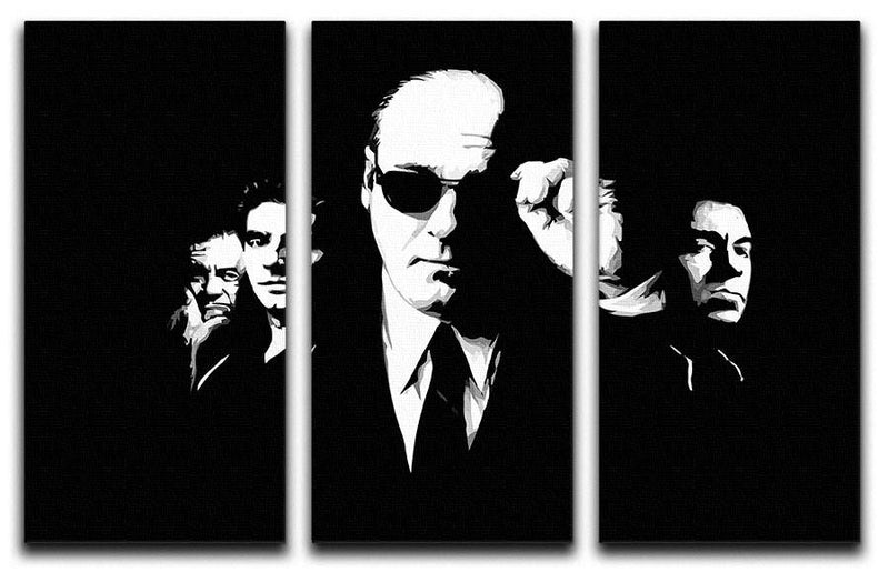 "The Sopranos ""Like Brothers"" 3 Split Panel Canvas Print - US Canvas Art Rocks"