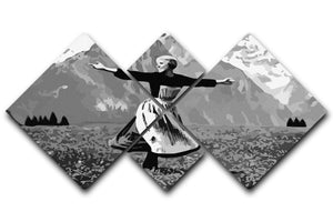 The Sound Of Music Black and White 4 Square Multi Panel Canvas  - Canvas Art Rocks - 1
