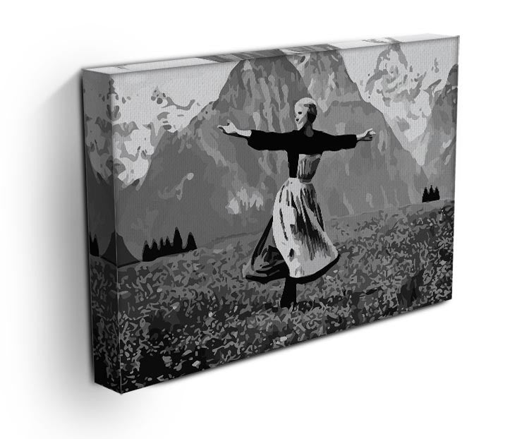 The Sound Of Music Black and White Print - Canvas Art Rocks - 3