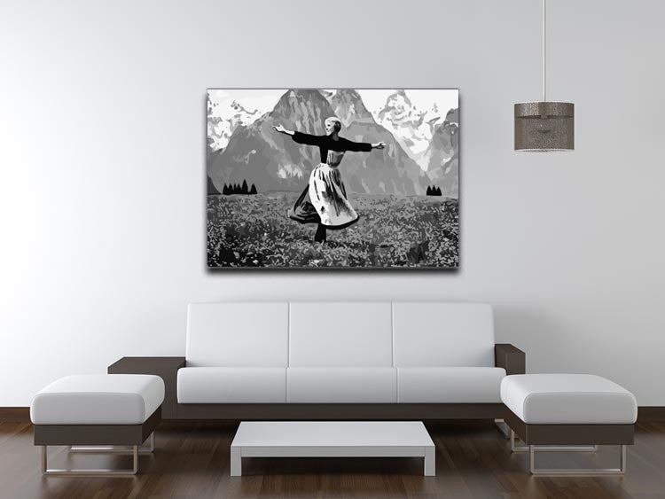 The Sound Of Music Black and White Print - Canvas Art Rocks - 4