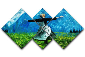 The Sound Of Music Coloured 4 Square Multi Panel Canvas  - Canvas Art Rocks - 1