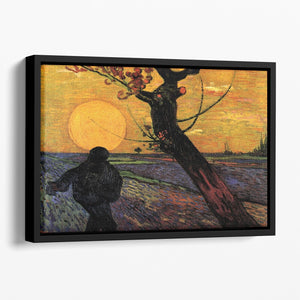 The Sower 2 by Van Gogh Floating Framed Canvas