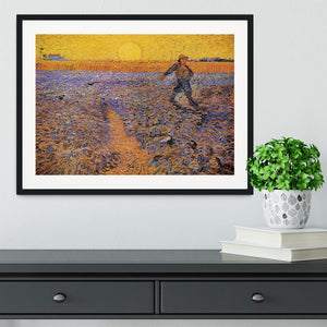 The Sower 3 by Van Gogh Framed Print - Canvas Art Rocks - 1