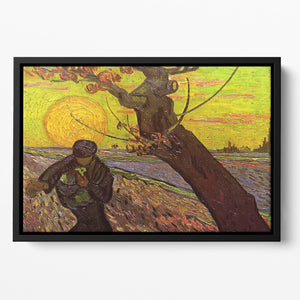 The Sower by Van Gogh Floating Framed Canvas