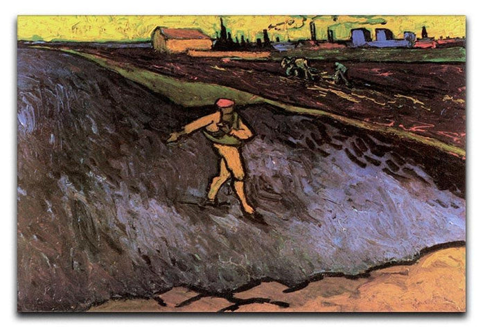 The Sower with the outskirts of Arles in the Background by Van Gogh Canvas Print or Poster