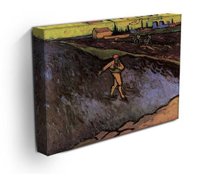 The Sower with the outskirts of Arles in the Background by Van Gogh Canvas Print & Poster - Canvas Art Rocks - 3