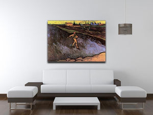 The Sower with the outskirts of Arles in the Background by Van Gogh Canvas Print & Poster - Canvas Art Rocks - 4