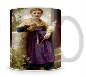 The Spinne By Bouguereau Mug - Canvas Art Rocks - 1