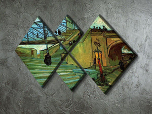 The Trinquetaille Bridge by Van Gogh 4 Square Multi Panel Canvas - Canvas Art Rocks - 2