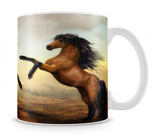 The Two Horses Mug - Canvas Art Rocks - 1