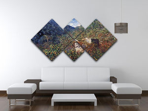 The Valley Sasso Bordighera by Monet 4 Square Multi Panel Canvas - Canvas Art Rocks - 3