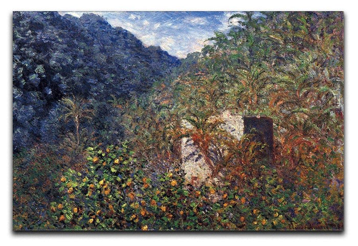 The Valley Sasso Bordighera by Monet Canvas Print or Poster