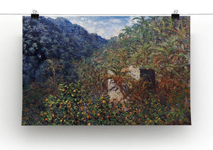 The Valley Sasso Bordighera by Monet Canvas Print & Poster - Canvas Art Rocks - 2