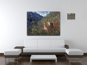 The Valley Sasso Bordighera by Monet Canvas Print & Poster - Canvas Art Rocks - 4