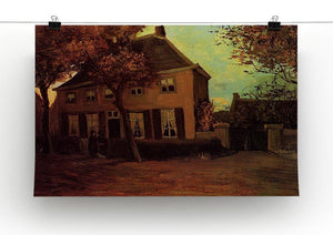 The Vicarage at Nuenen by Van Gogh Canvas Print & Poster - Canvas Art Rocks - 2