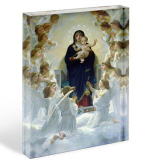 The Virgin With Angels By Bouguereau Acrylic Block - Canvas Art Rocks - 1
