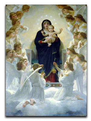 The Virgin With Angels By Bouguereau Canvas Print or Poster  - Canvas Art Rocks - 1