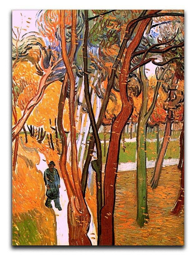 The Walk in Falling Leaves by Van Gogh Canvas Print or Poster