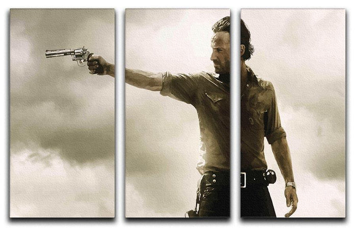 The Walking Dead 3 Split Panel Canvas Print