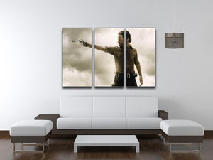 The Walking Dead 3 Split Panel Canvas Print - Canvas Art Rocks - 4