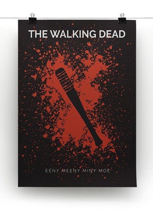The Walking Dead Eeny Meeny Minimal Movie Canvas Print or Poster - Canvas Art Rocks - 2