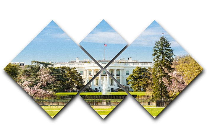 The White House Blossoms 4 Square Multi Panel Canvas