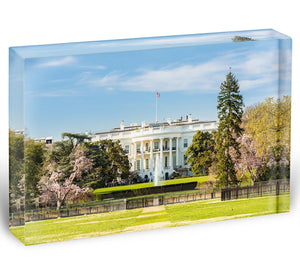 The White House Blossoms Acrylic Block - Canvas Art Rocks - 1