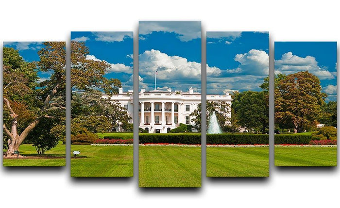 The White House the South Gate 5 Split Panel Canvas