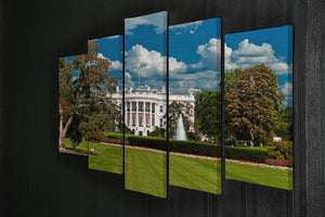 The White House the South Gate 5 Split Panel Canvas  - Canvas Art Rocks - 2