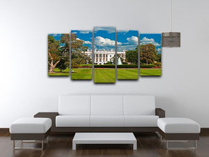 The White House the South Gate 5 Split Panel Canvas  - Canvas Art Rocks - 3