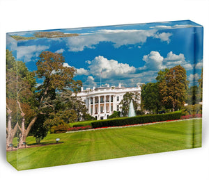 The White House the South Gate Acrylic Block - Canvas Art Rocks - 1