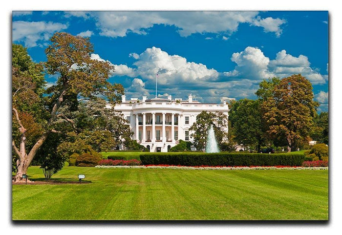 The White House the South Gate Canvas Print or Poster
